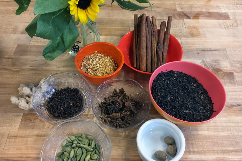 We passed around each spice during our opening circle so we could experience the different aromas.