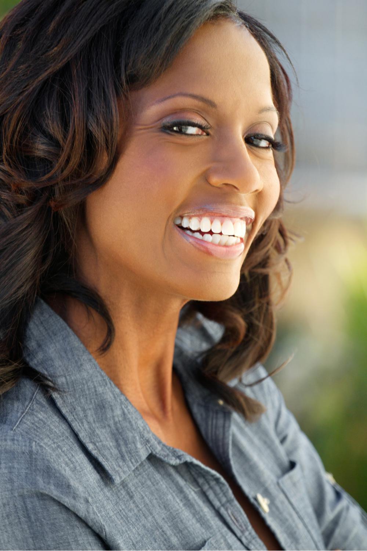 Mature Woman African American Smile Teeth.png