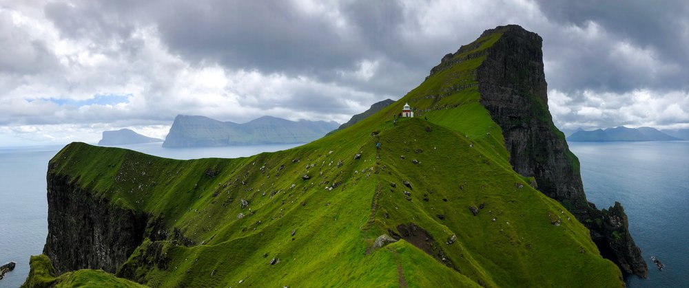 The truly stunning view from Kallur Lighthouse