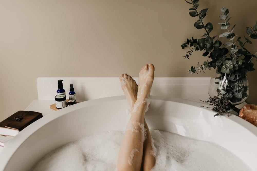 Eucalyptus in a bath tub.