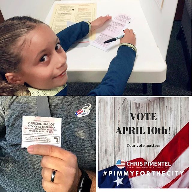 We love seeing all your voting photos! Please get out and vote. Tag us in your posts so we can share in the excitement. #pimmyforthecity #elsegundovotes #vote #elsegundo #govote🇺🇸 #90245 #ivotedsticker