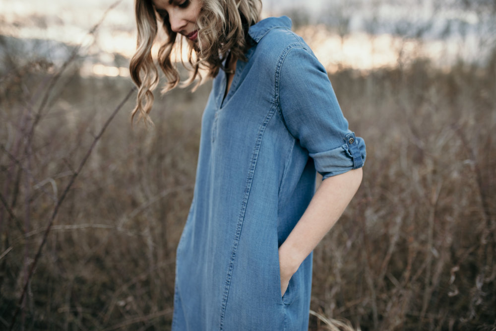 jean dress looking down .jpg