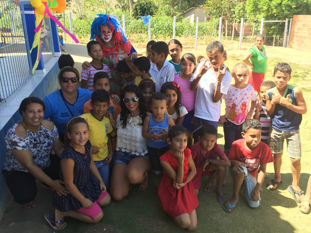 Keula Binelly Celebrating Kid's Day at an Orphanage in Brazil