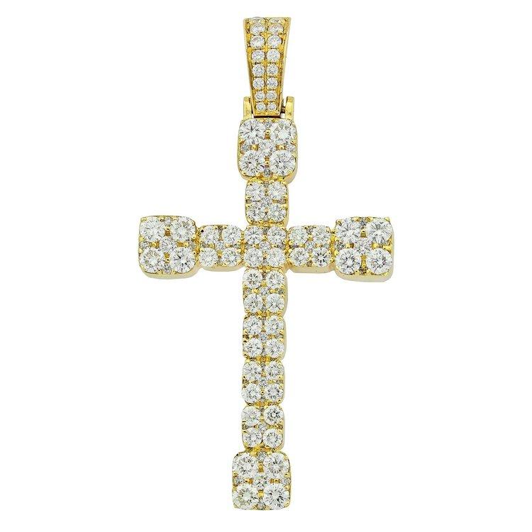 325ctw 14k gold box cross diamond pendant iced out mike 325ctw 14k gold box cross diamond pendant aloadofball Gallery