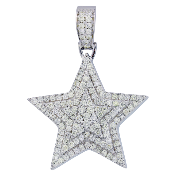 263ctw 14k gold 3d star diamond pendant iced out mike 263ctw 14k gold 3d star diamond pendant aloadofball Image collections