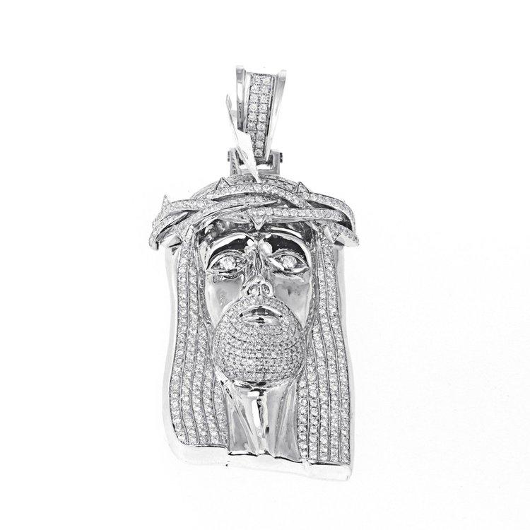 1210ctw 14k gold jesus head diamond pendant 966g iced out mike 1210ctw 14k gold jesus head diamond pendant 966g aloadofball Images