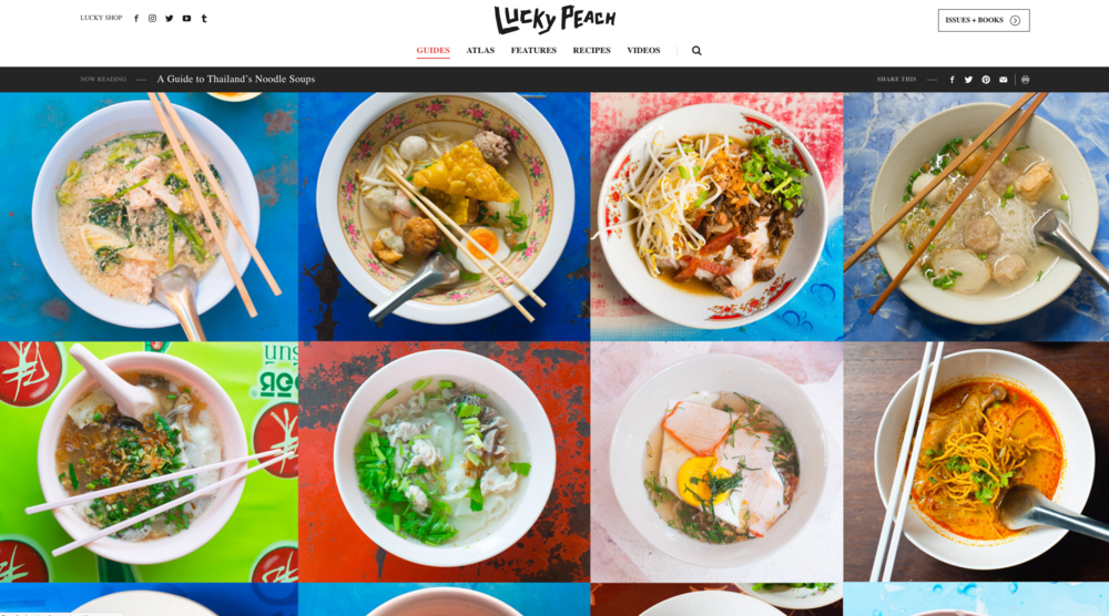 "Text and photos: "" A Guide to Thailand's Noodle Soup Dishes "", Lucky Peach online."