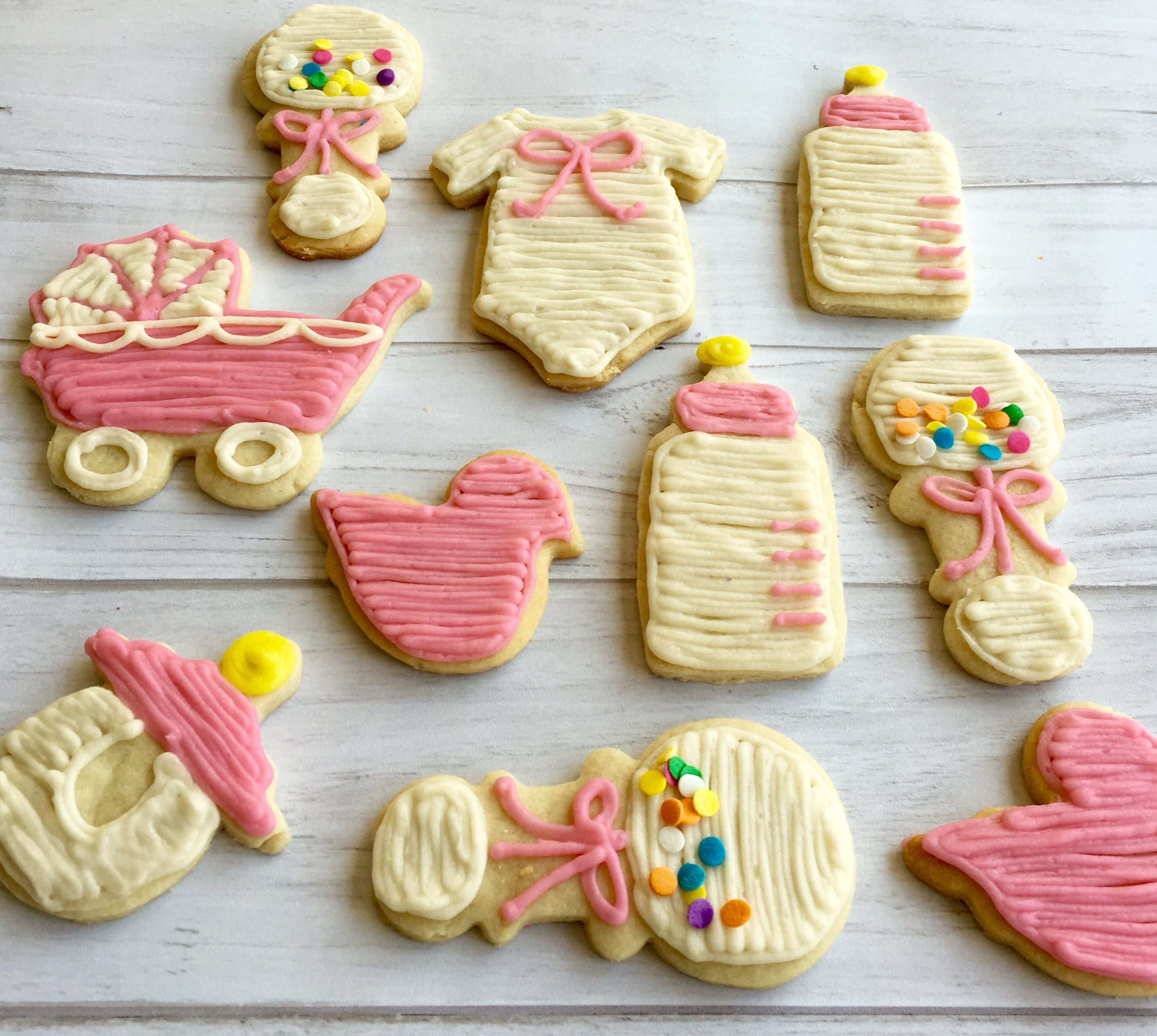 Girl Baby Shower Cookies Sully And Vanilla