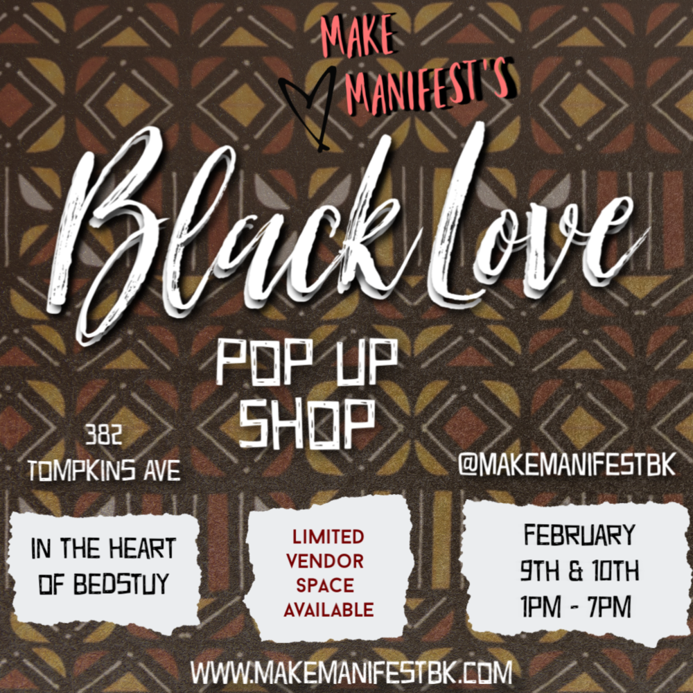 2nd annual Black Love Pop Up Shop - Limited vendor spaces available. Apply here
