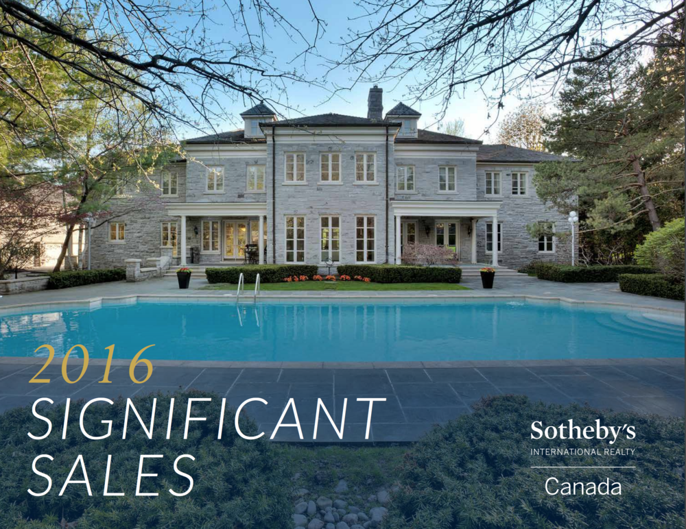 2016 Significant Sales - Explore these pages to discover some of the extraordinary homes we sold in 2016
