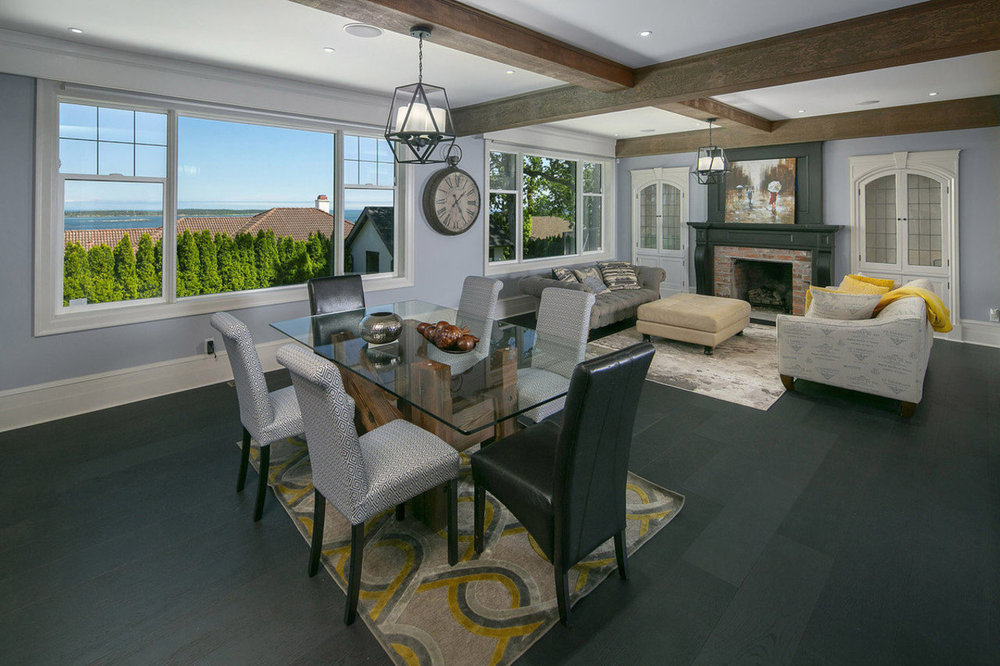 The living room of a five-bedroom, seven-bathroom luxury home listed for sale in Oak Bay, Victoria, British Columbia SOTHEBY'S INTERNATIONAL REALTY CANADA    More:   Click to view luxury properties for sale in Oak Bay, Victoria