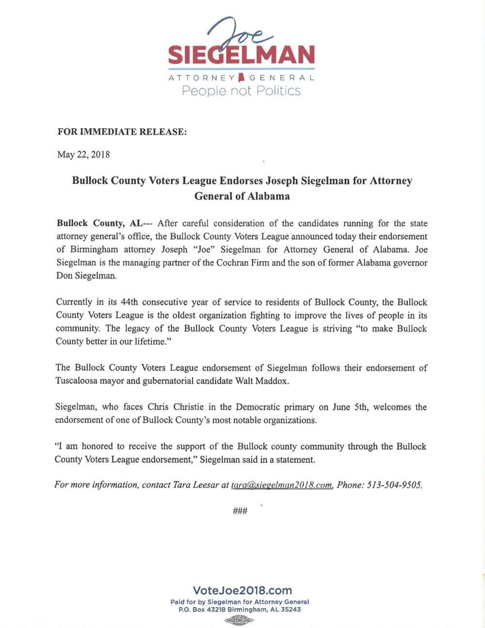 Siegelman Bullock County Voters League Endorsement Press Release.png