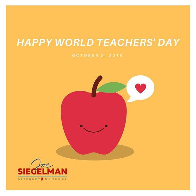 From an early age, teachers invested in me and helped me grow into the man I am. Today is World Teachers' Day, but they deserve our gratitude and respect each and every day for the work they do to give our children a brighter future.