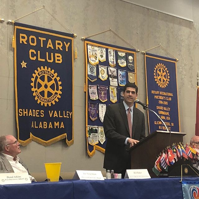 Thank you to the Shades Valley Rotary Club for hosting me today. It was a pleasure to speak with you about my vision for Alabama and how we can work together for people, not politics.