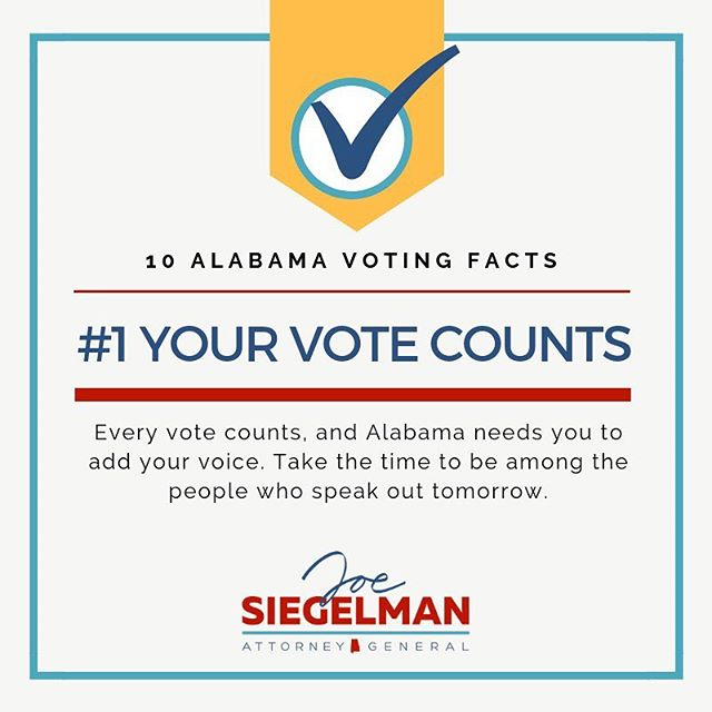 We saved the best for last--this is the most important thing for you to remember tomorrow. Please take the time to exercise your right to vote!  #getoutthevote #vote #alpolitics