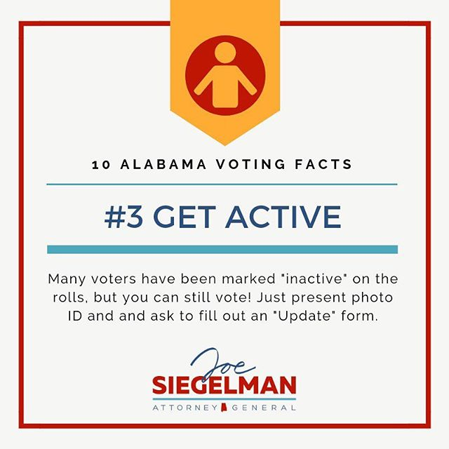 """Don't let nobody turn you around! If you have been marked """"inactive,"""" you can still vote a regular ballot!  #vote #getoutthevote #alpolitics"""