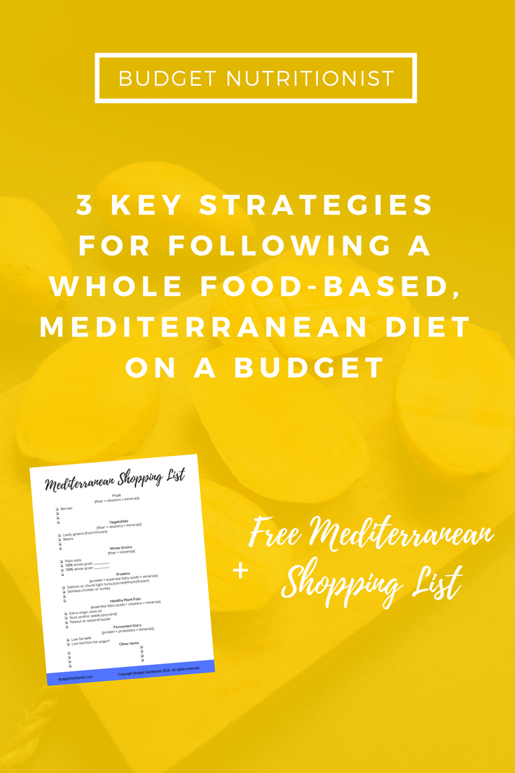 Mediterranean diet plan | Mediterranean diet shopping list | Meal planning on a budget