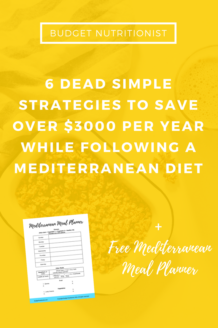 6 Dead Simple Strategies to Save Over $3000 per Year on Food While Following a Mediterranean Diet + Free Meal Planner