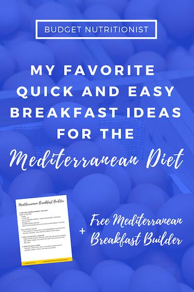 Mediterranean diet breakfast | Meal planning on a budget | Mediterranean breakfast on the go