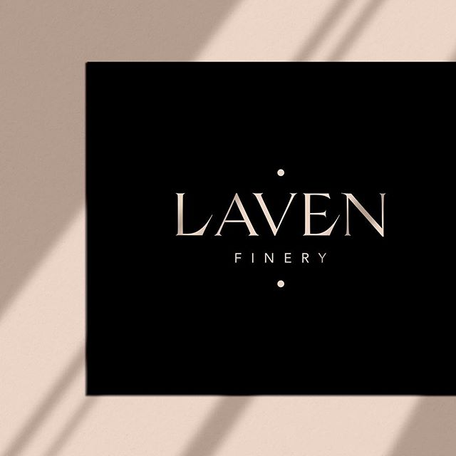 A little #WIP. I designed this logo as a concept because I wanted to experiment with custom type and luxury branding, and now it's actually being used / built upon for a tableware company 🤗