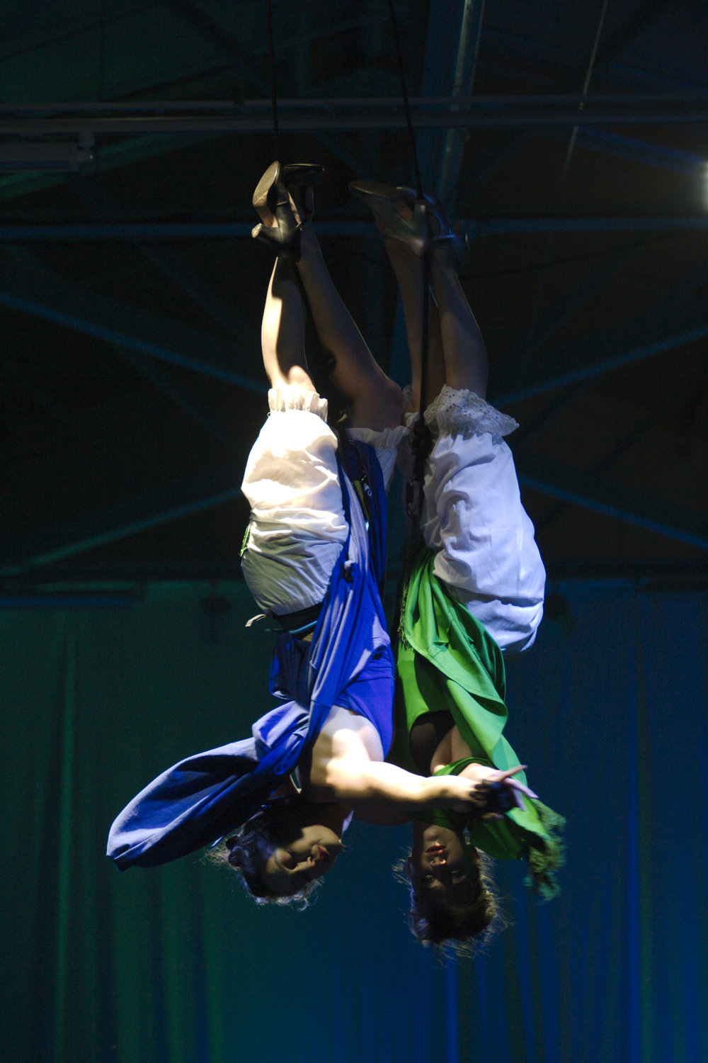 Helen and Kate perform GroundedAerial's  Recoil  at SF Aerial Arts Festival in 2016. Directed by Karen Furhman, Photo by Andy Mogg