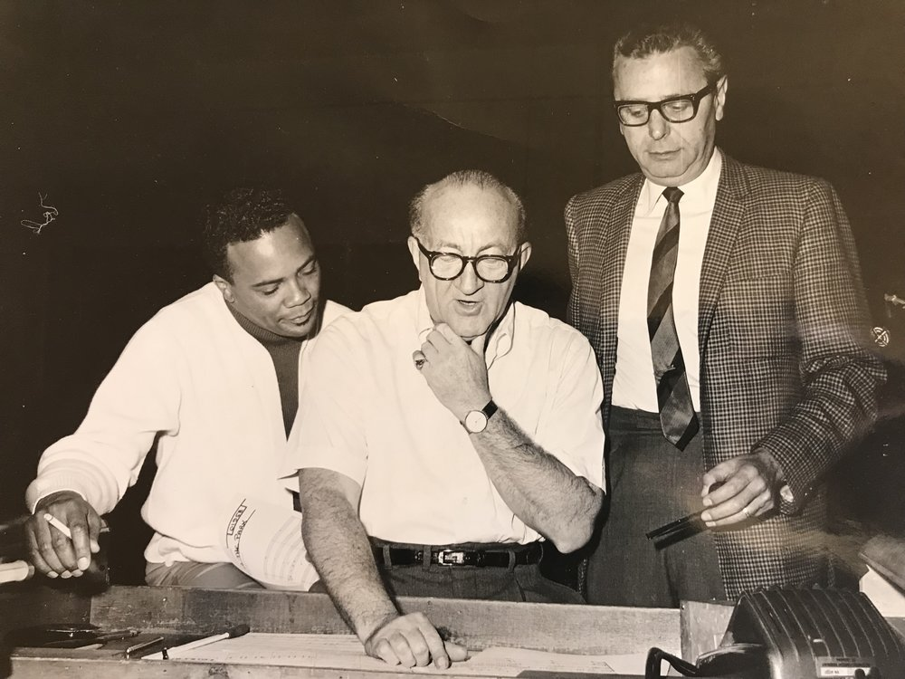 pictured left to right: Quincy Jones, Joseph Gershenson, Ross Hunter