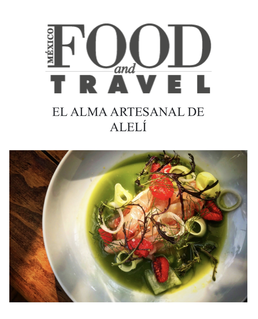 FOOD & TRAVEL MÉXICO. 2018