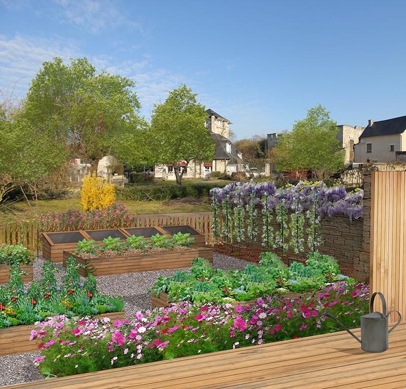 Changer / Enseigner / Cultiver (création d'un jardin) - Coucy-le-Château