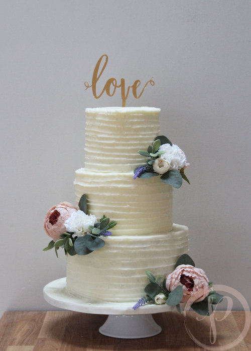 Buttercream wedding cake with silk flowers the pink cake box love buttercream wedding cake silk flowersg junglespirit Image collections