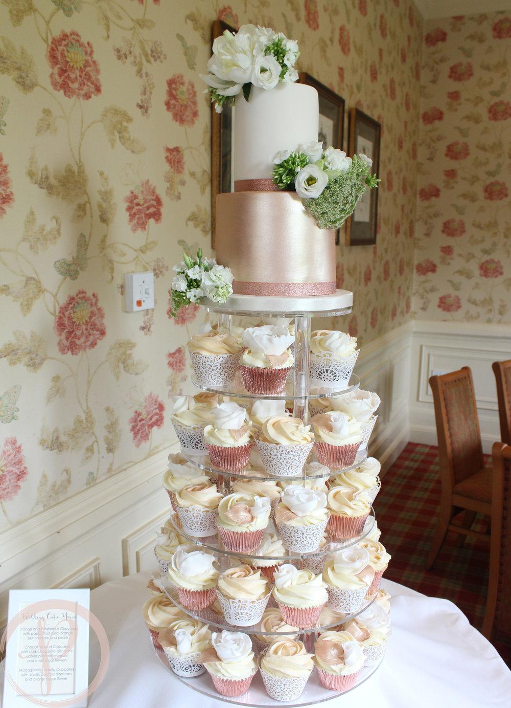 rose gold wedding cupcake tower.jpg