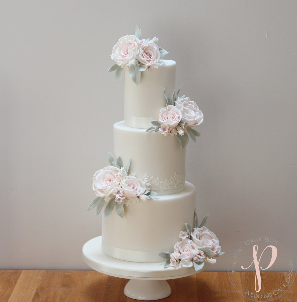 blush roses wedding cake hand piped lace.jpg