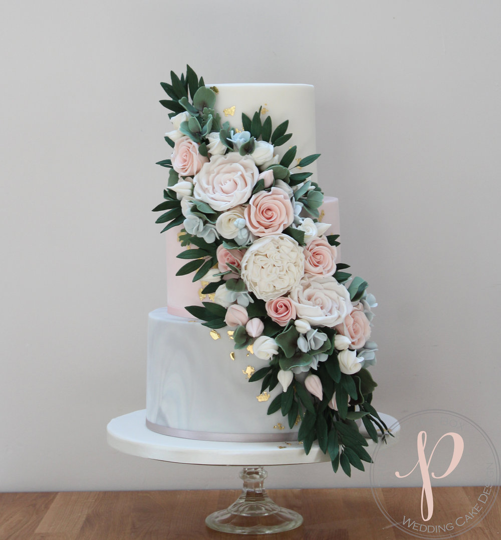 floral cascade wedding cake grey marble blush.jpg
