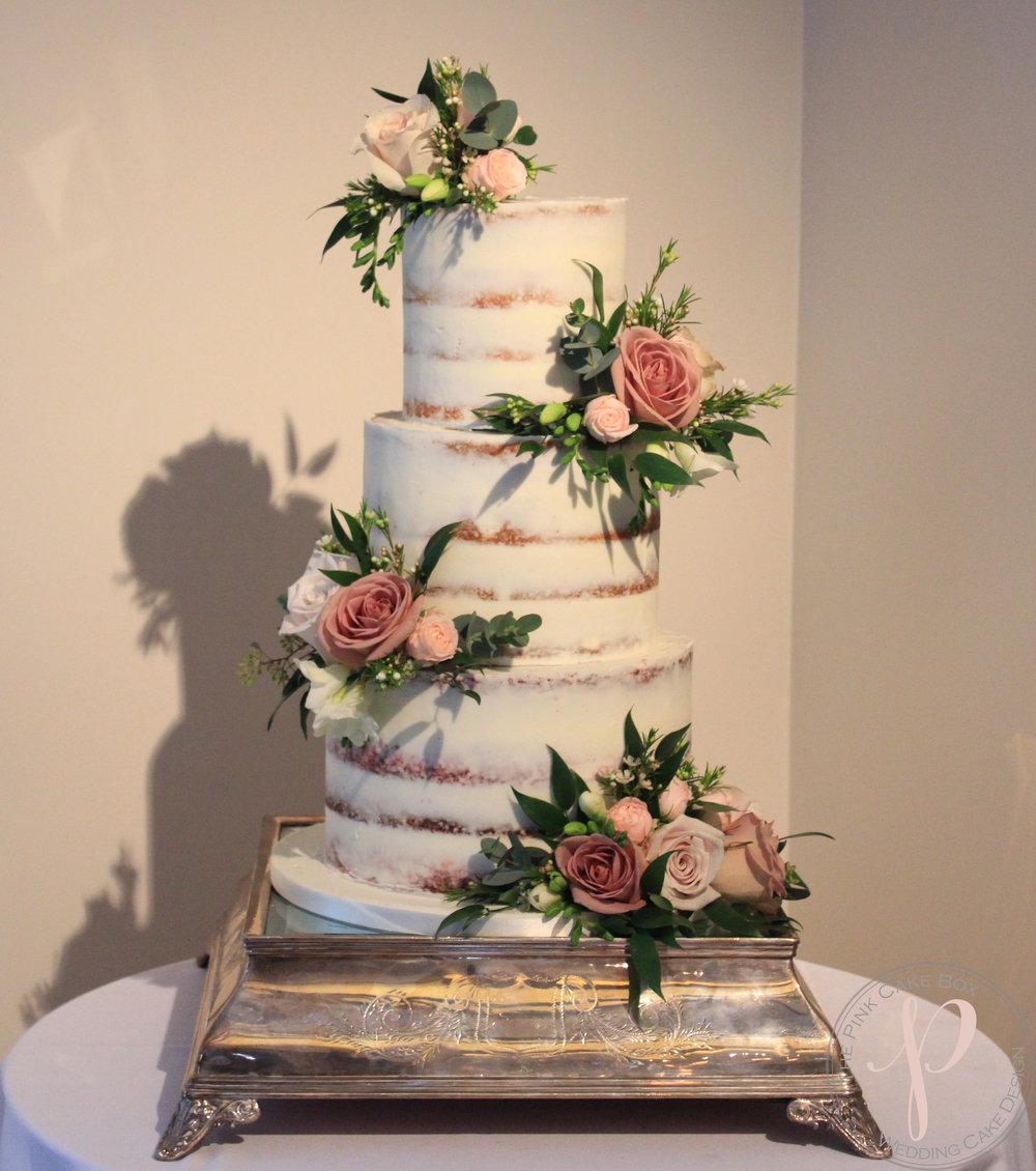 semi naked wedding cake fresh flowers avant garden pink wild rose.jpg