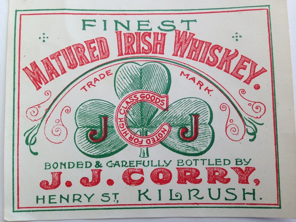 One of J.J.'s original labels. Source: The Chapel Gate Whiskey Company