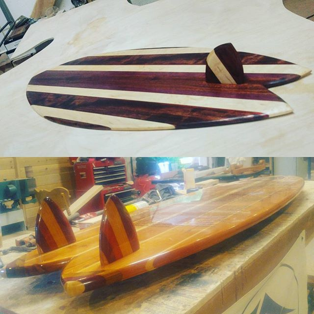 2 fins or just one? It's alllll good! #goodvibes #woodworking #surfboard #decor #surfdecor #sup #sundayfunday