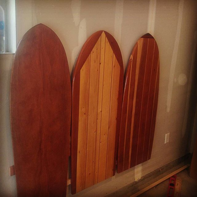 testfitting a queen headboard! can't wait to ship it out! #decor #bedroomdecor #woodworking #sup #surfing #surfboard #surfdecor