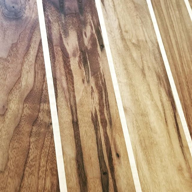 We love rummaging through lumber to find that perfect peice that brings a smile to our faces when we cover it in Tung oil. :) Happy day. #woodworking #surfsup #sup #goodvibes.