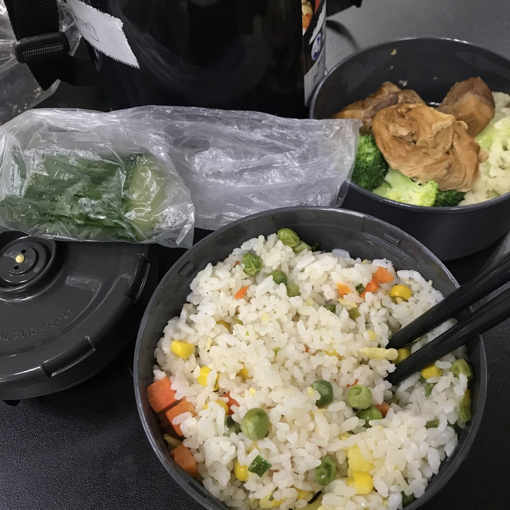 """""""My mom's so nice, she made me all this good food. JK, it's all leftovers. Okay, it's not all leftovers,"""" says  Nicole Z . """"The fried rice isn't leftover."""""""