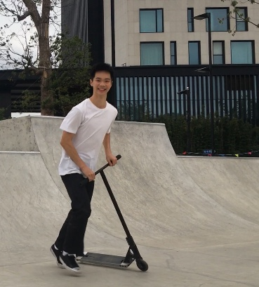 Sean L.'s got a secret! He's been developing his epic scooter skills for 8 years. It's even landed him a sponsorship deal.