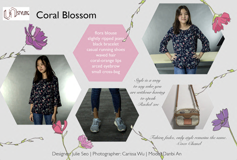A visual feature on outfits inspired by Spring taken from  Lis'Luna , a fashion magazine made by the Fashion Club. (see  Lis'Luna )