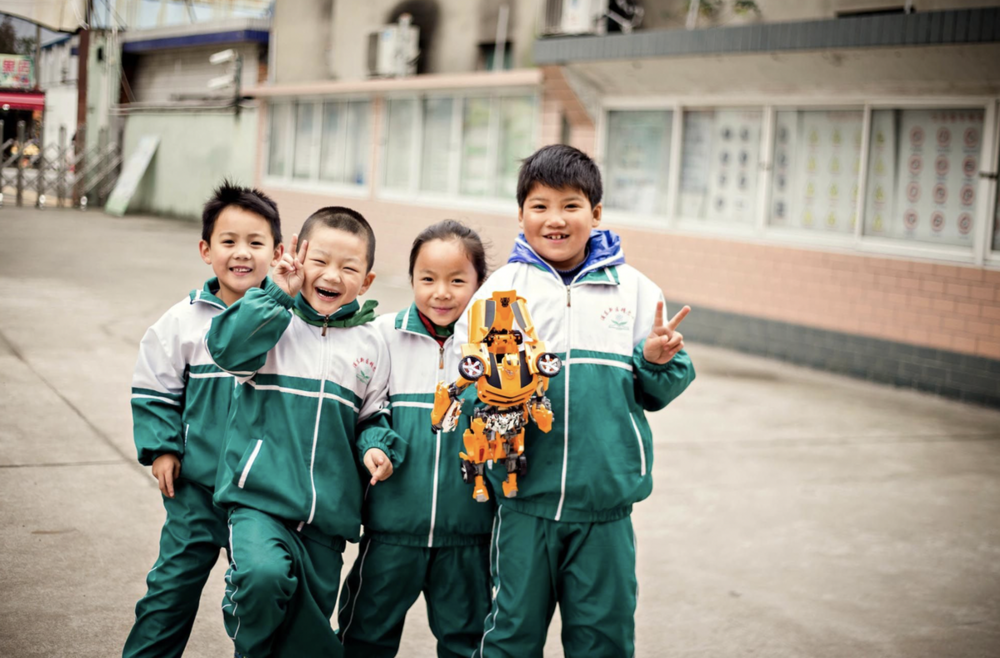 The children celebrate their Giving Tree Christmas!  (image: Shanghai Community International School)
