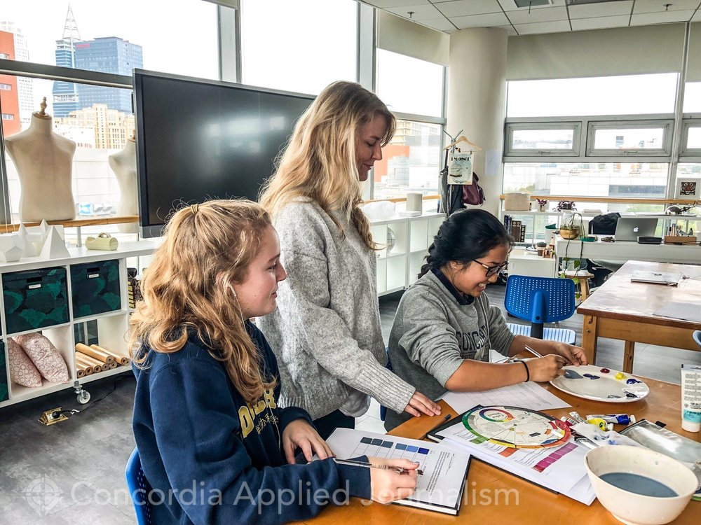 Concordia High School Art teacher Ms. Collins took a bit of an unconventional path to being a respected and passionate instructor. ( image: Melissa T., Concordia Applied Journalism)