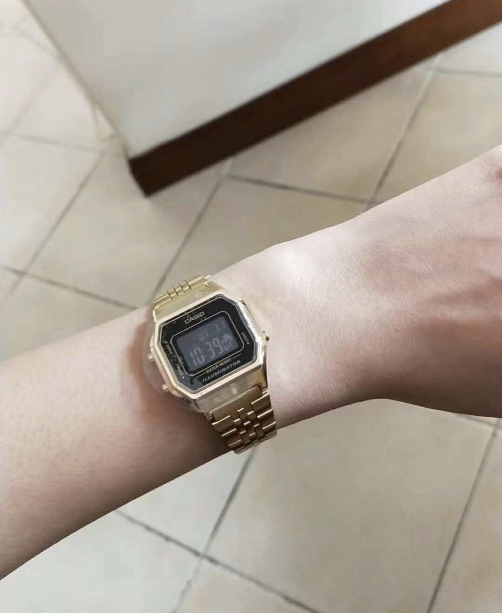 Senior Angela W. bought a knockoff Casio watch from Taobao.  (image: Evelyn S., Concordia Applied Journalism)