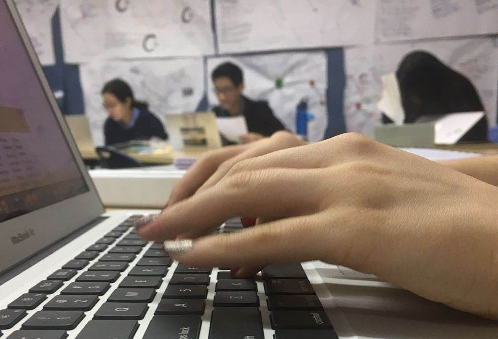 Learning Code requires a lot of time looking at screens, thinking logically and patting away at keys. (image: Erika B.,  Concordia Applied Journalism )