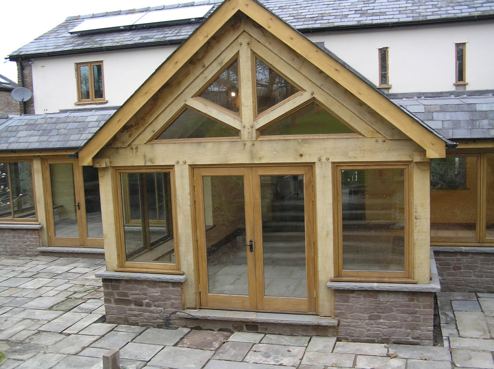Oak Garden room with Oak doors