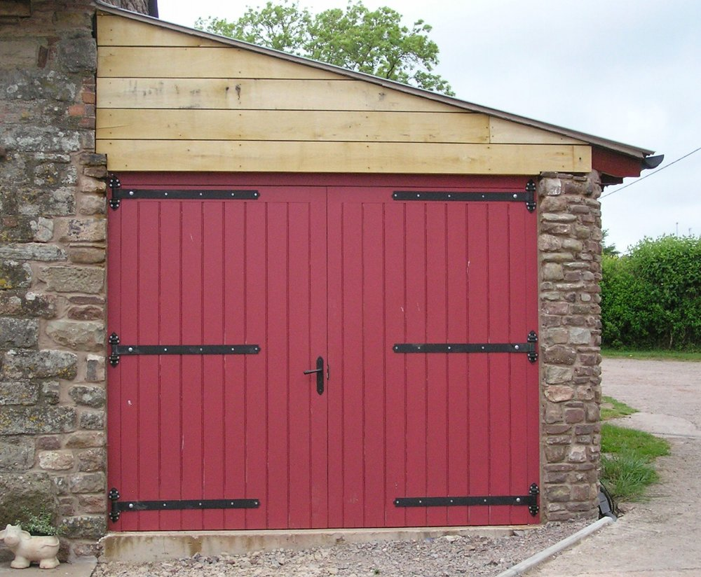 Painted Hardwood Garage Doors Hereford