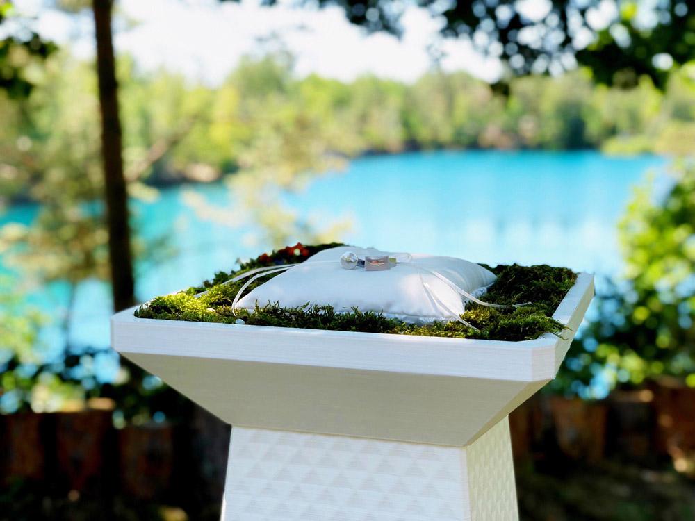 SOGON© Stele, Kunststoff weiß, 3D gedruckt / SOGON pillar, white plastic, 3D-printed