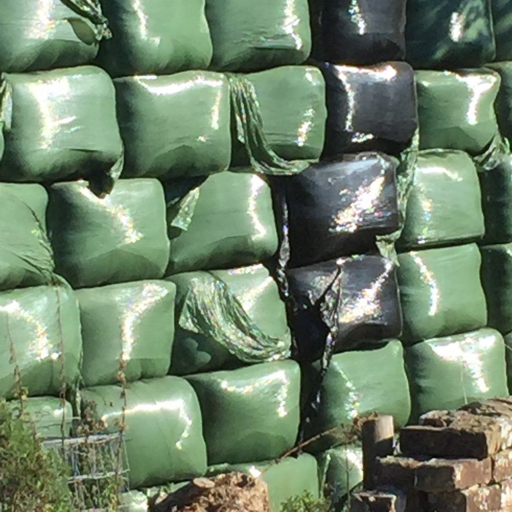 Who's for square beads inspired by this wrapped silage?
