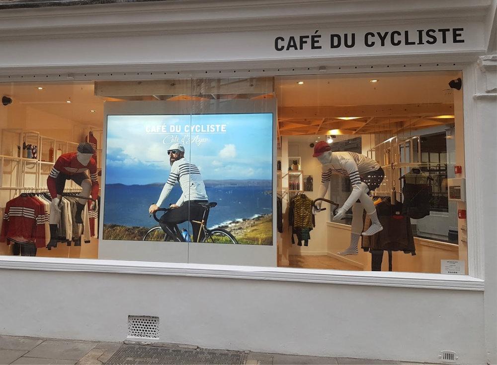 Cafe Du Cycliste Window Display