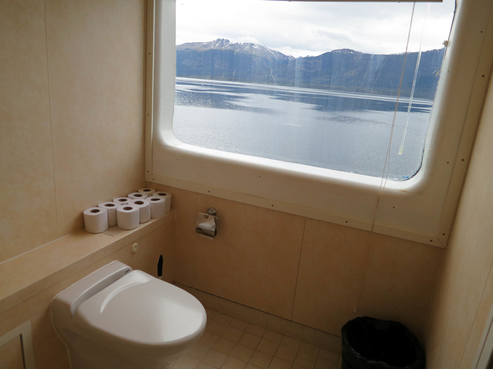 An unoccupied toilet aboard the M/S Expedition. Photograph  Brittany 'cedarnomad' (flickr.com)